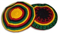V-19 RASTA KNITTED HAT