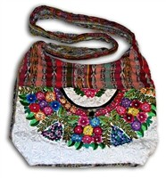 V-23 HAND CRAFTED KNITTED SHOULDER BAG