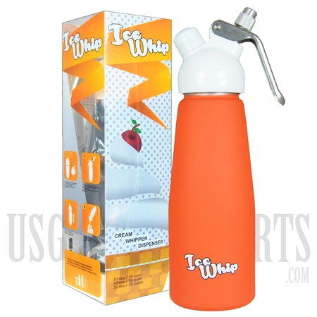 WI-06 Ice Whip Cream Dispenser. Half Liter. Orange