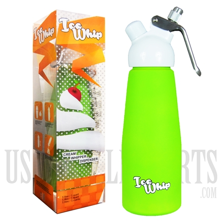WI-07 Ice Whip Cream Dispenser. One Liter. Green