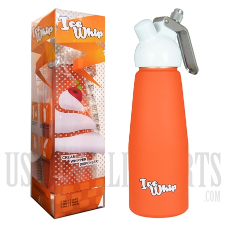 WI-07 Ice Whip Cream Dispenser. One Liter. Orange