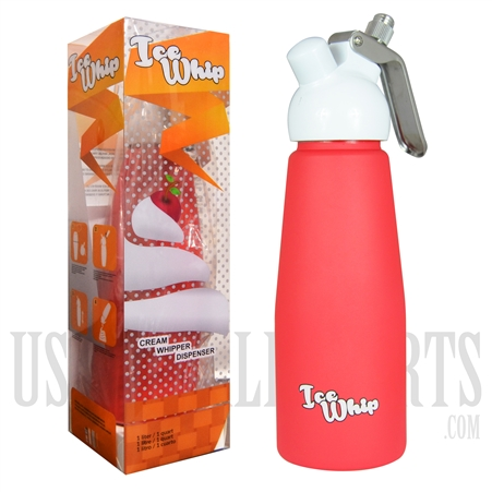 WI-07 Ice Whip Cream Dispenser. One Liter. Red