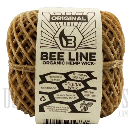 WICK-03 Bee Line Organic Gauge Wick | 200FT / 61m | Original Thin