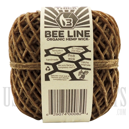 WICK-04 Bee Line Organic Gauge Wick | 200FT / 61m | Thick