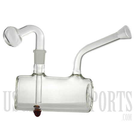 "WP-1741 5.5"" Oil Burner Water Pipe Glass on Glass"