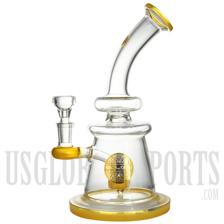 "WP-1820 9.5"" Water Pipe + Stemless + Showerhead + Color + Bougie Glass"