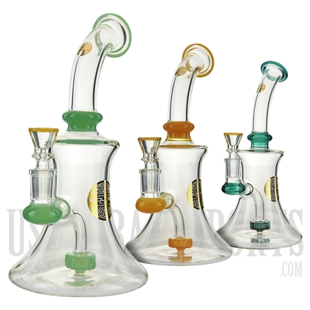 "WP-1902 9.5"" Water Pipe + Stemless + Showerhead + Bougie Glass"