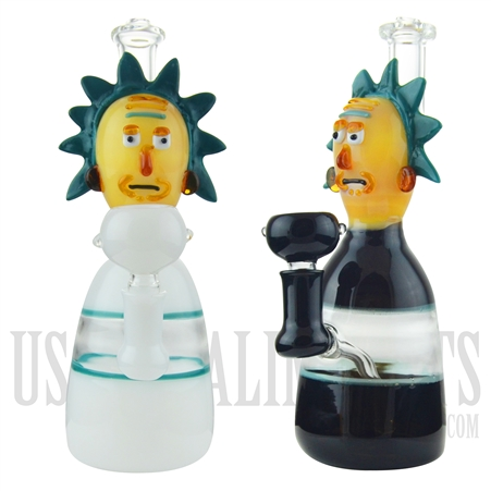 "WP-1924 9"" Glass Water Pipe +Showerhead +  Famous Character. 2 Colors"