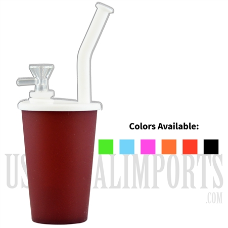 "WP-1929 9"" Silicone Bubbler Cup. Comes in Different Colors"