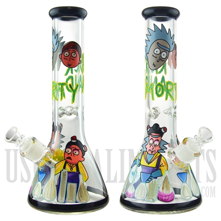 "WP-1930 12.5"" Glass Water Pipe + Beaker Base + Ice Catcher + Famous Character"