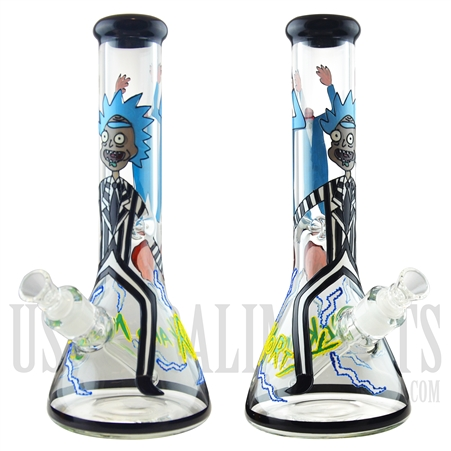 "WP-1934 12.5"" Glass Water Pipe + Beaker Base + Ice Catcher + Famous Character"