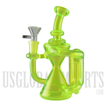 "WP-2031 7"" Neon Green Recycler Water Pipe 