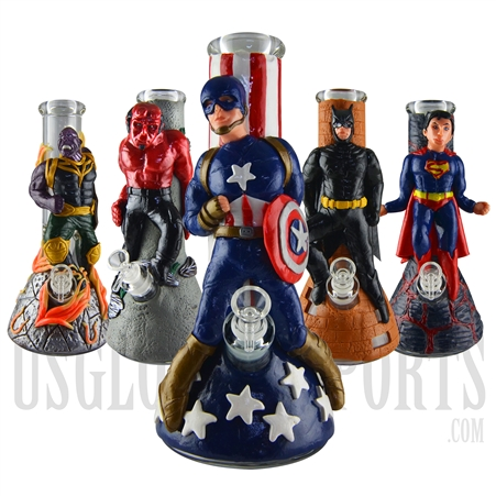 WP-2041 Glass Water Pipe | Famous Character figure | 7mm Glass | 13""