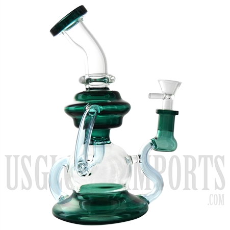 "WP-N9133 8.5"" Water Pipe + Stemless + Inline Showerhead + 3 Recycler Arms"
