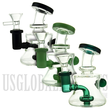"WP-N9173 5"" Water Pipe + Stemless + Showerhead + Handle Ball + Color Design"
