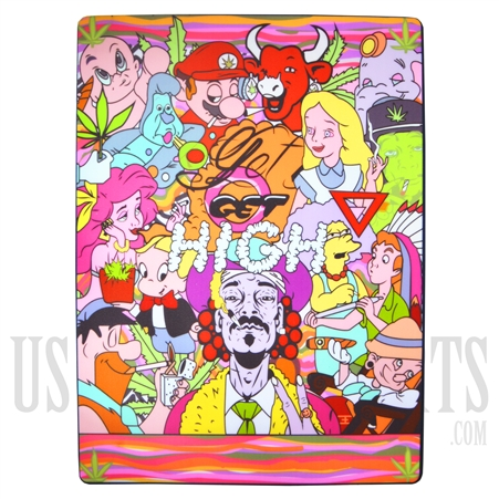 "WXC-17 Silicone Smoking Station + Famous Character Design. 16"" x 12"""