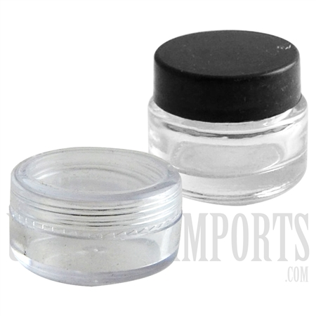 WXC-23 Glass Wax Container Jar. 15mm x 30mm