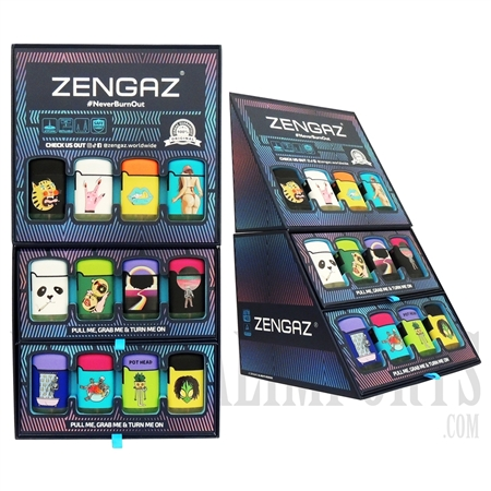 ZL-3 Zengaz Lighter Cube Display 12 Mixed Designs | 36 Lighters Total