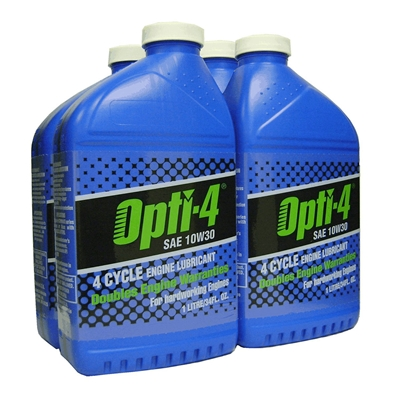 Opti-4 10W30 34 oz bottle for engines up to 31hp 43121
