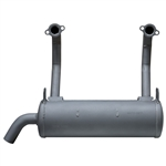 Brand New Genuine OEM Kawasaki Horizontal High Mount Muffler Fits: FS, FR, FX Series 651V, 691V, 730V (726cc Engines) 49070-0877
