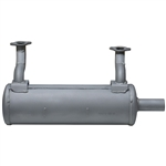 Brand New Genuine OEM Kawasaki Horizontal Low Mount Muffler Fits: FS, FR, FX Series 651V, 691V, 730V (726cc Engines) 49070-0878