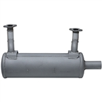 Brand New Genuine OEM Kawasaki Horizontal Low Mount Muffler Fits: FS, FR, FX Series 751V, 801V, 850V (852cc Engines) 49070-0879