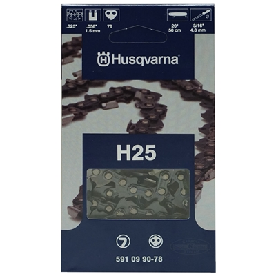 "Genuine Husqvarna OEM Chainsaw 20"" Chain .325"" Pitch x .058 Gauge H25 78 Drive Links 591 09 90-78, 591099078, 5018404-78, 501840478"