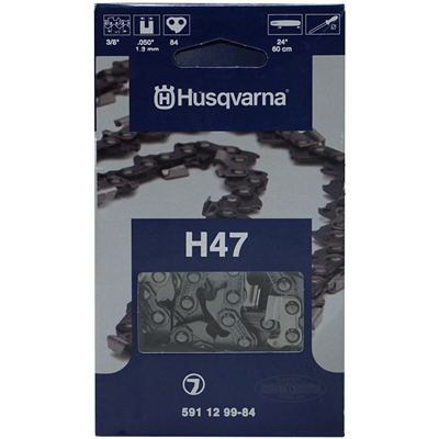 "Genuine Husqvarna OEM 24"" Pro Chain 3/8"" Pitch x .050 Gauge 84 Drive Links 591 12 99-84, 591129984, 5018426-84, 501842684"
