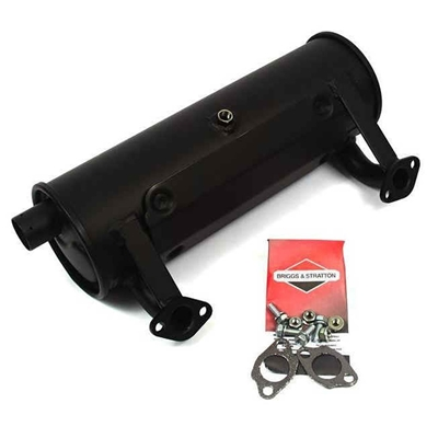 "Briggs & Stratton Below Deck 5"" Discharge Canister Muffler Kit With O2 Sensor Port 594584"