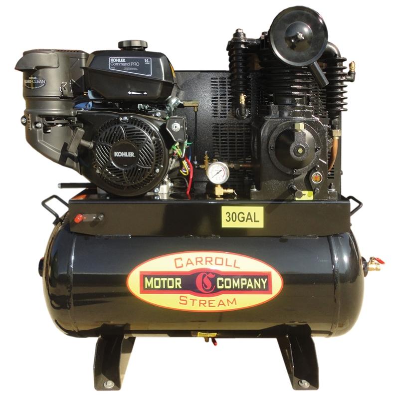 Gas Air Compressor Truck Mount 14 HP Kohler Command Pro Electric Start