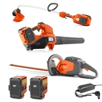 Husqvarna Combo Deal On Battery Powered Trimmer, Blower & Hedger With FREE Batteries & Charger Included