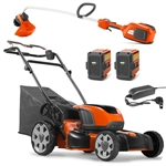 Husqvarna Combo Deal On Battery Powered Lawn Mower & Trimmer With FREE Batteries & Charger Included