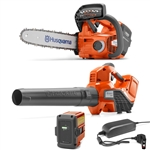 Husqvarna Battery Series Combo Deal On T535iXP Chainsaw & 320iB Blower With Battery & Charger Included