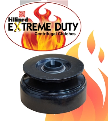 "Hilliard Extreme Duty Clutch 1"" Inch Bore.  3 11/16"" Inch Pulley O.D. For 1/2"" Inch W 'A' Belts And 5/8"" Inch 'B' Belts"