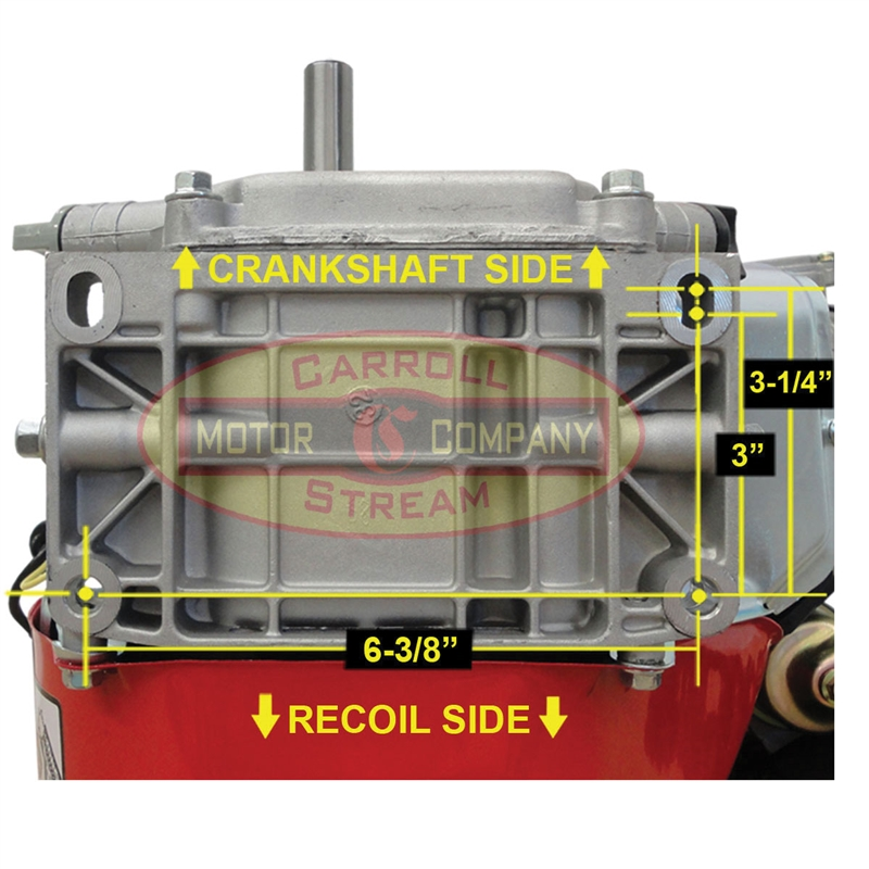 6 5 HP 6:1 Gear Reduction Gas Engine With Recoil Start 6 5HP 3/4