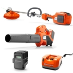 Husqvarna Battery Operated Trimmer And Blower With Battery And Charger