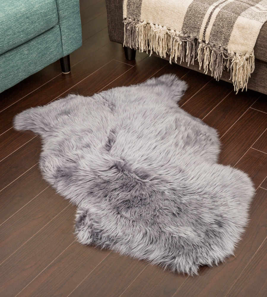 Nz Sheepskin Rug Grey Single Sheepskin