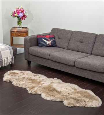 taupe NZ double lambskin