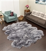 Grey NZ Shearling Rug