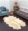 Champagne quad nz sheepskin rug