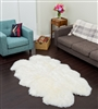 quad white nz sheepskin rug