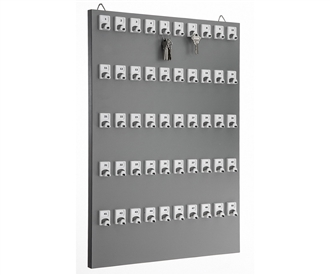 Key Stand with 50 Numbered Hooks for Auto Services and Mechanic Shops (50 Sets of Tag & Ring Included)