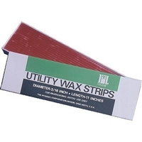 "Utility Wax Round Strips, Red, 11"", 80/Box, H00817"