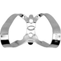 Hygenic Gloss Finish Winged Clamps 9, Anterior, H02763