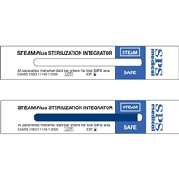 "SteamPlus Steam Sterilization Integrator 4"" x 0.75"", 100/Box, SSI-100"