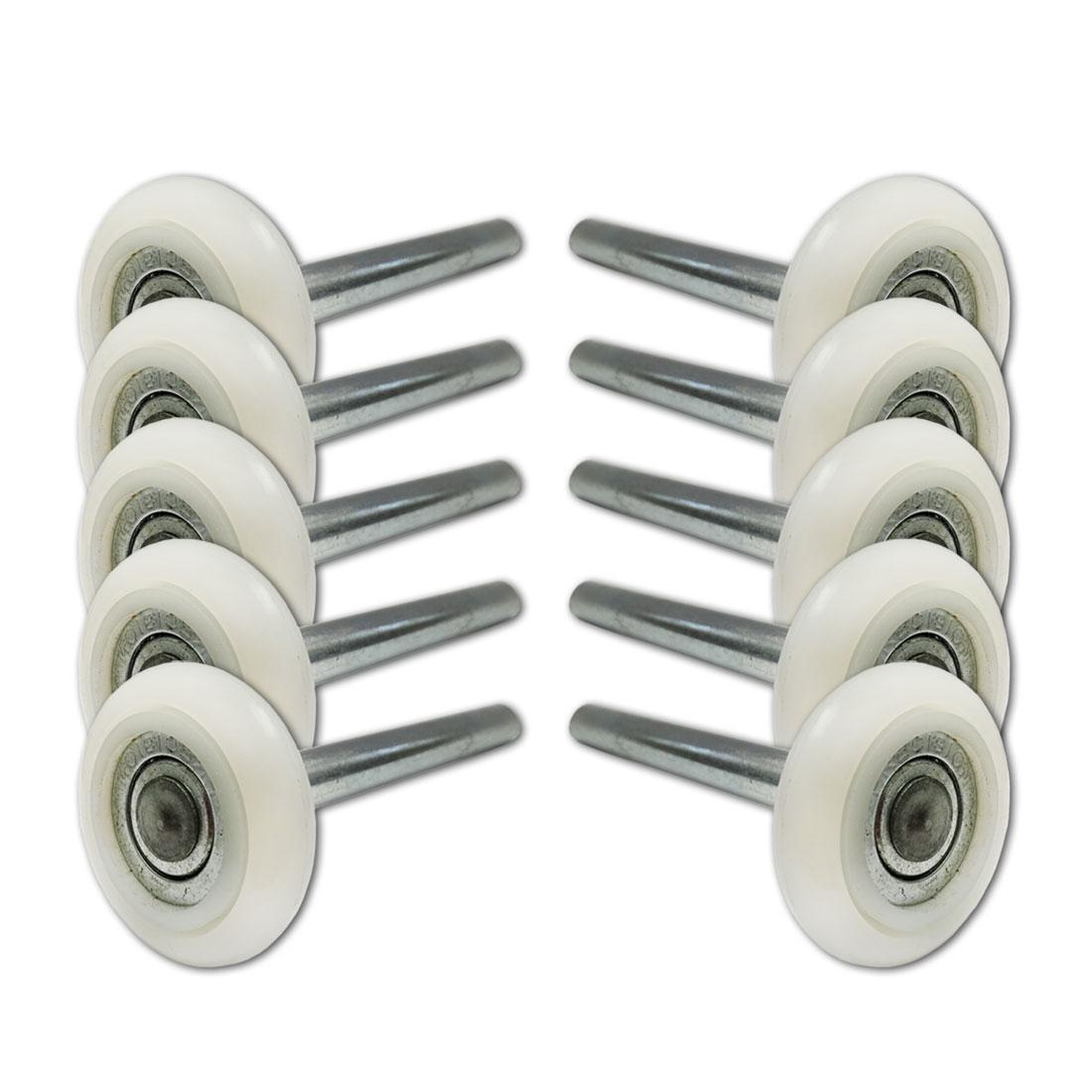 Sealed Bearing 10 PACK 4 Inch Stem 13 Ball Nylon Garage Door Rollers