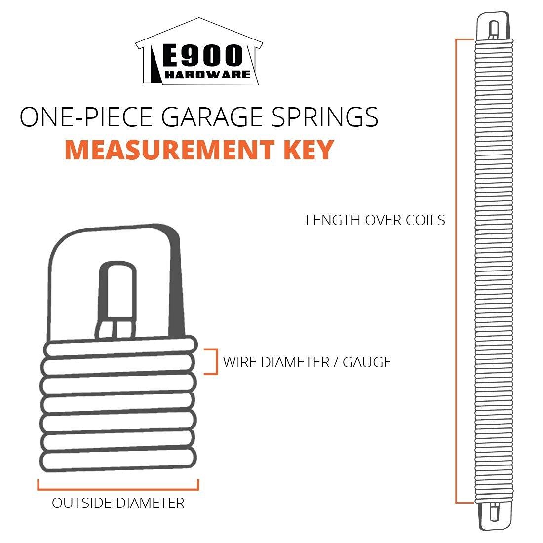 "P728 28-Inch Plug-End Garage Door Spring (.177"" #7 Wire"