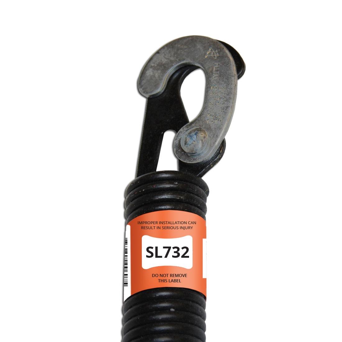 Sl732 32 In Lock End Spring For 1 Piece Garage Doors