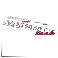 "Decal Sheet Esprit Tech White/Red 3""/6""/12"" (75/150/305mm)"