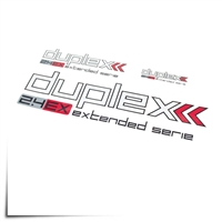 "Decal Sheet Duplex 2.4 White/Red 3""/6""/12"" (75/150/305mm)"
